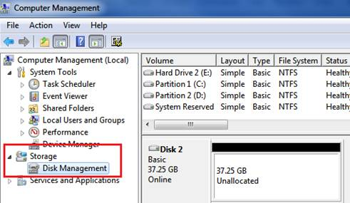 disk management windows 7 >Cara Partisi Windows 7 Tanpa Software