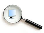 computer icon magnifying glass