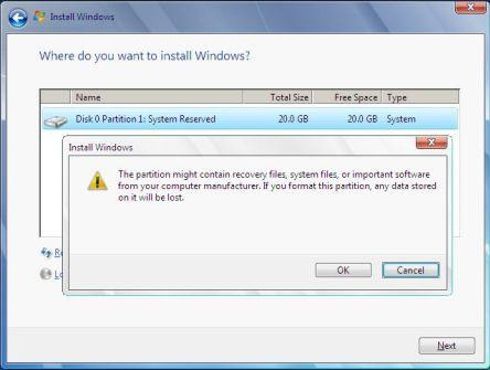 windows 7 might contain recovery files
