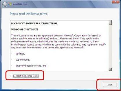 windows 7 license agreement pic